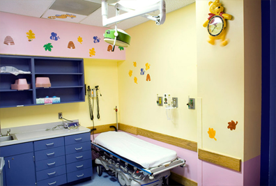 Pediatric Emergency Department Exam Room