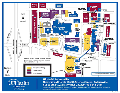 Campus Map Student Handbook Medical Student Education - Jacksonville map